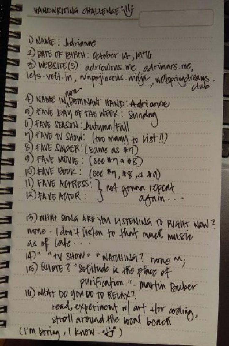 Adris Handwriting Challenge